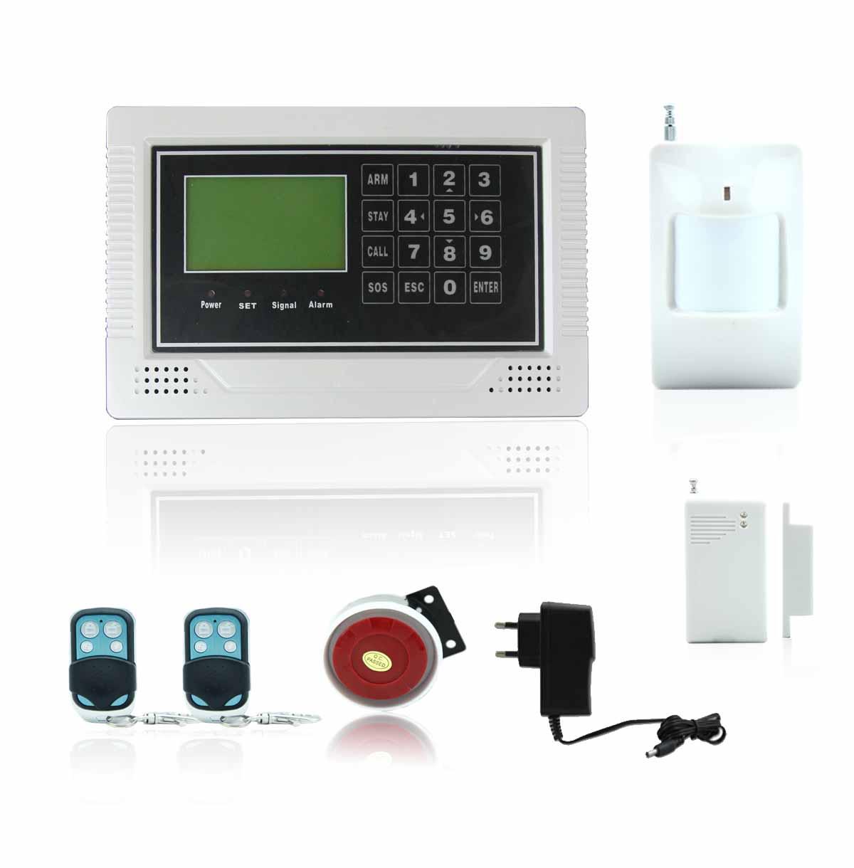 Floureon alarme maison sans fil cran lcd gsm autodial for Alarme maison sans fil gsm