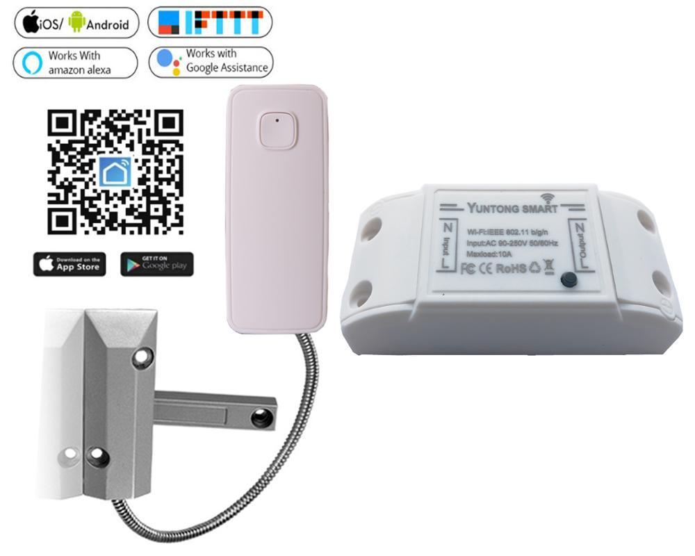 wifi garage roller sensor detector kit app Remote Control Alexa